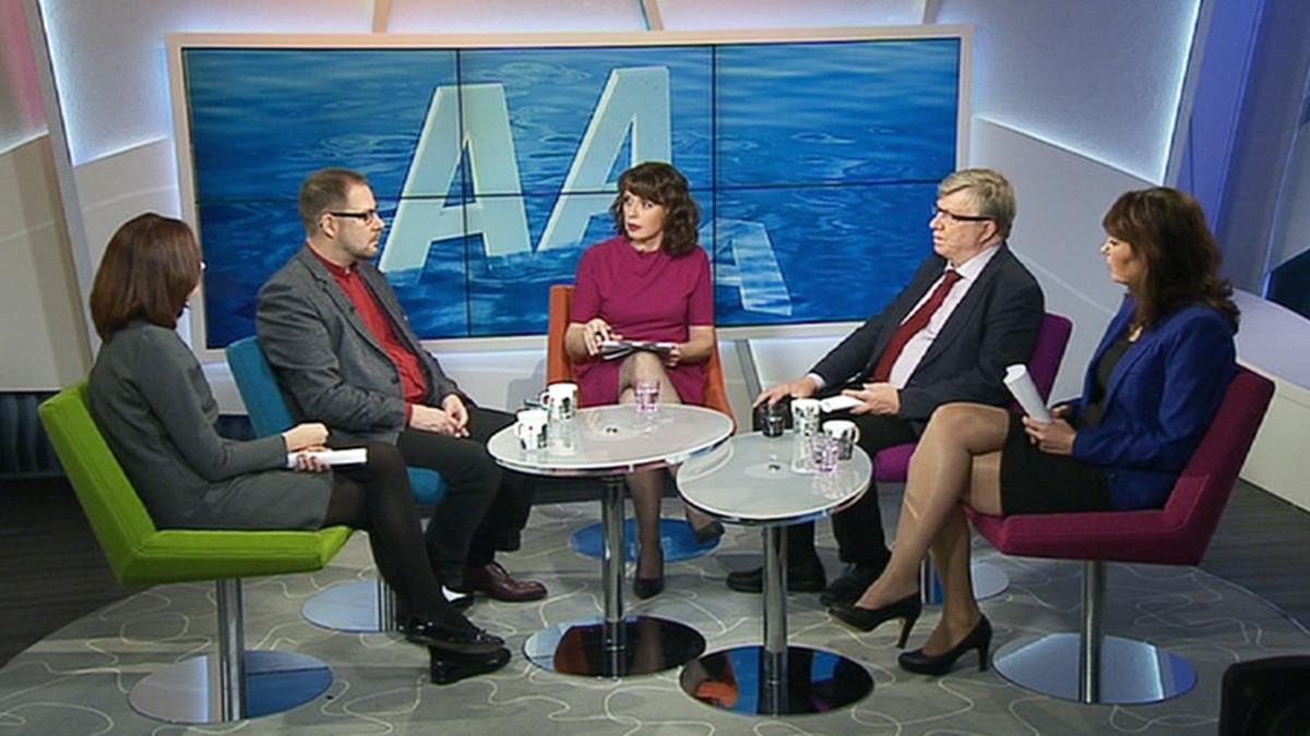 Puoluesihteerit Ylen Aamu-tv:ssä torstaina.