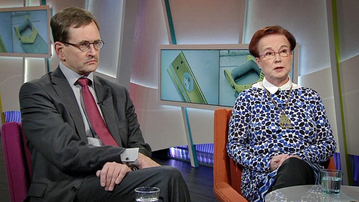 Työttömyydestä keskustelivat muun muassa  toimitusjohtaja Vesa Vihriälä Elinkeinoelämän tutkimuslaitoksesta ja johtaja Seija Ilmakunnas Palkansaajien tutkimuslaitoksesta.