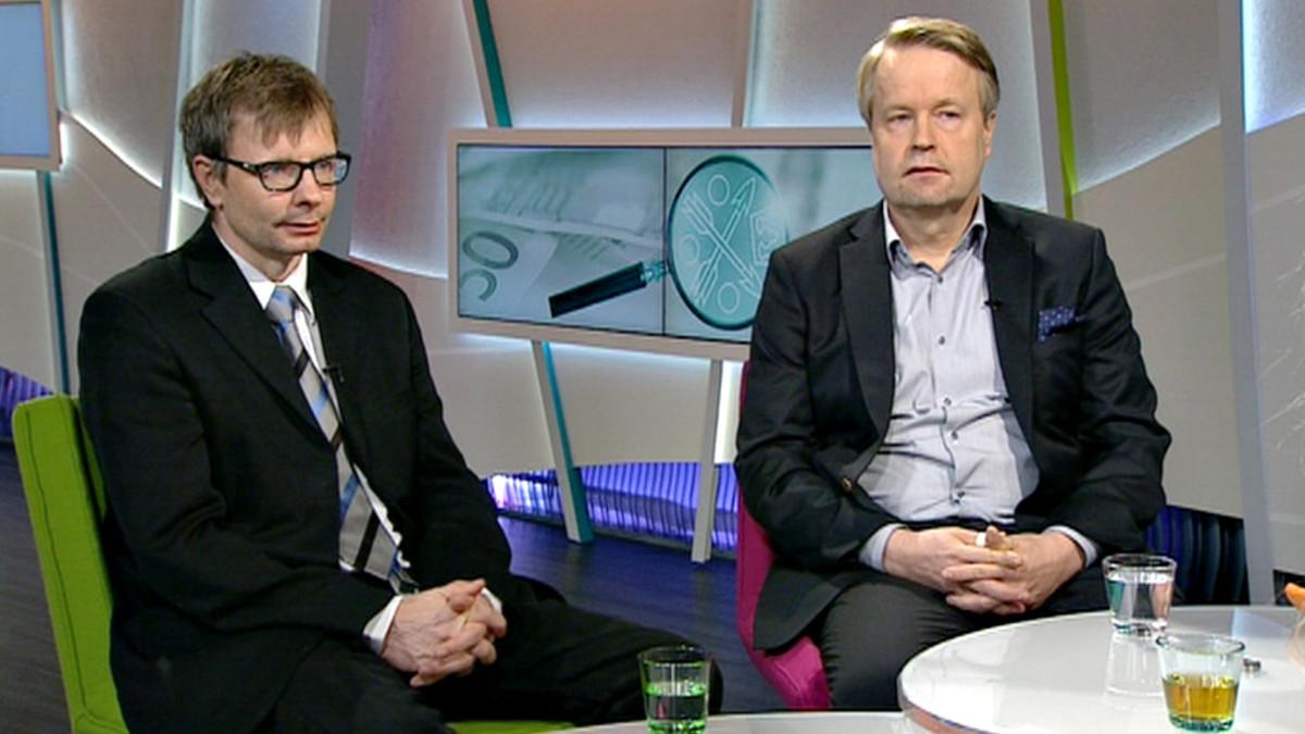 Heikki Hiilamo ja  Matti Apunen.