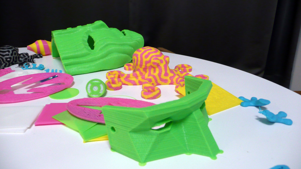 3d-tulostimella printattuja esineitä