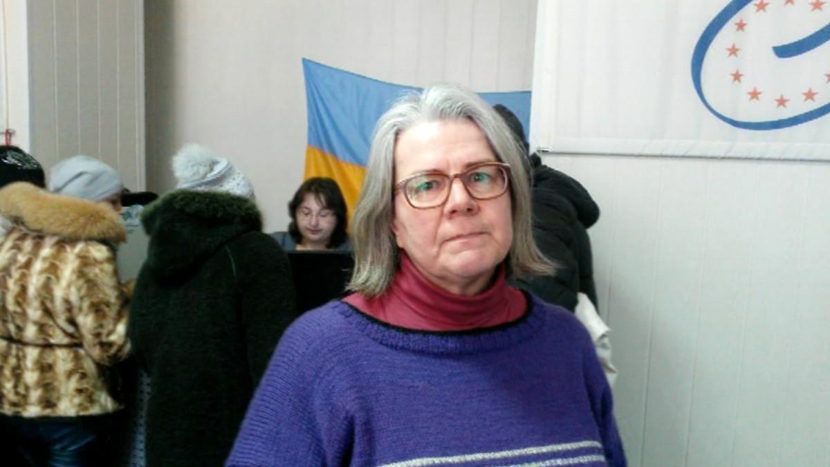 Yle Uutisten toimittaja Kerstin Kronvall Ukrainassa.