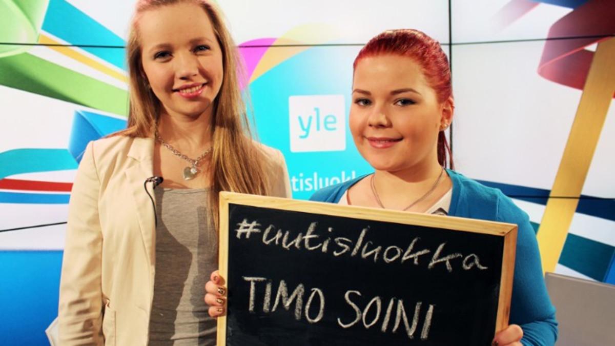 Porvoon Linnajoen koulun nuoret tenttasivat Perussuomalaisten puheenjohtajaa Timo Soinia muun muassa ympäristöasioista, maahanmuutosta ja soinismeista.