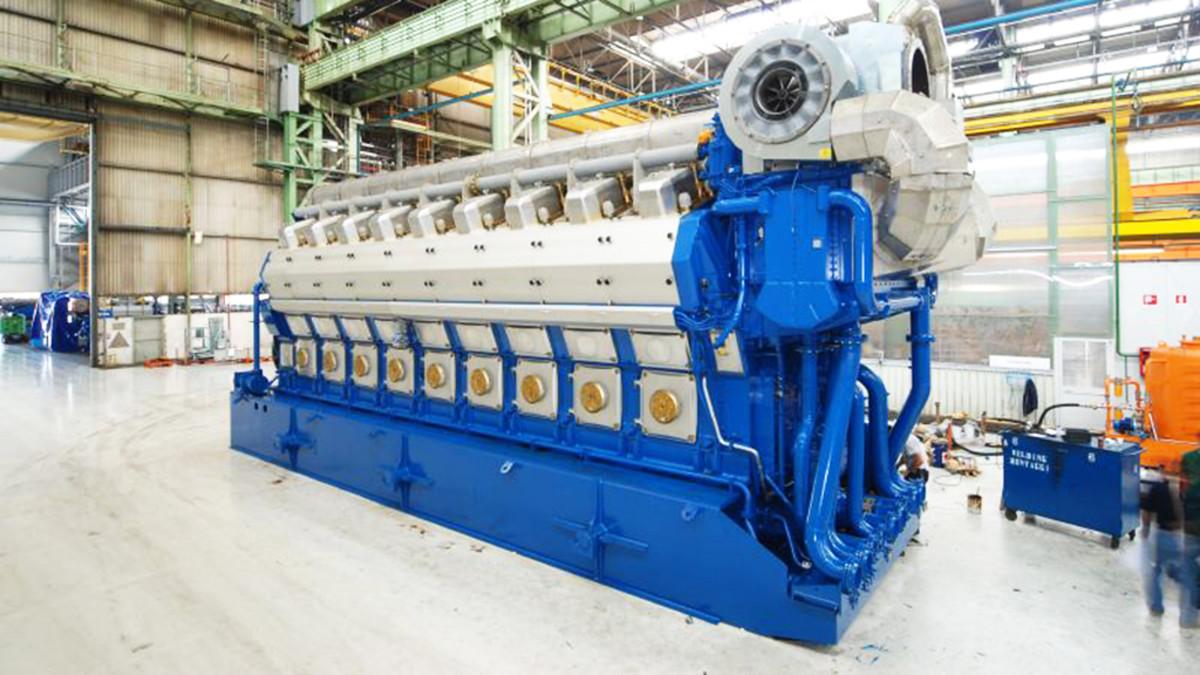 Wärtsilän 50DF-moottori.