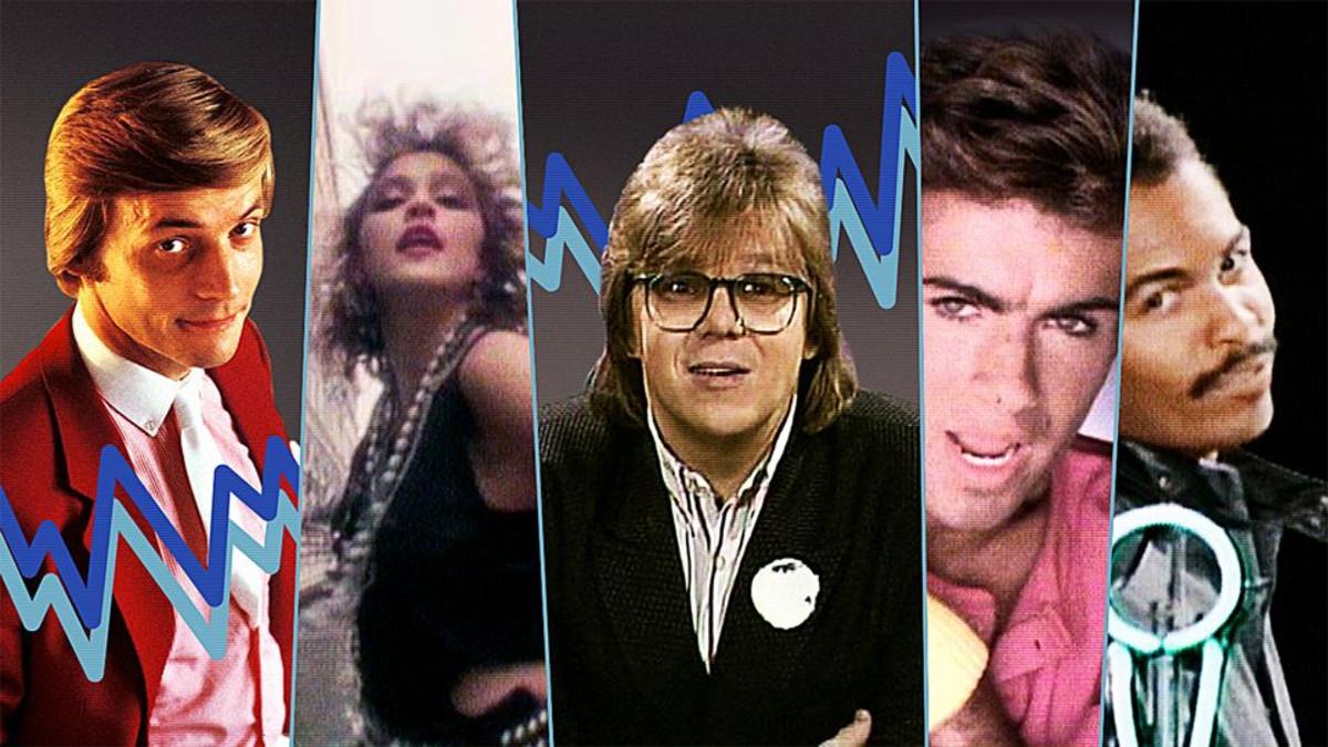 Hittimittarin kuvakombossa seikkailevat Timo T. A. Mikkonen, Madonna, Mikko Alatalo, Wham:in George Michael sekä Ray Parker Jr.