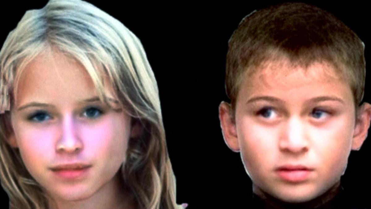 tytön ja pojan kasvot