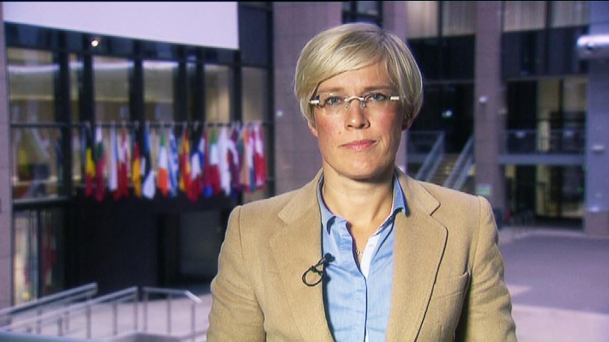 Maria Stenroos suorassa Brysselistä.