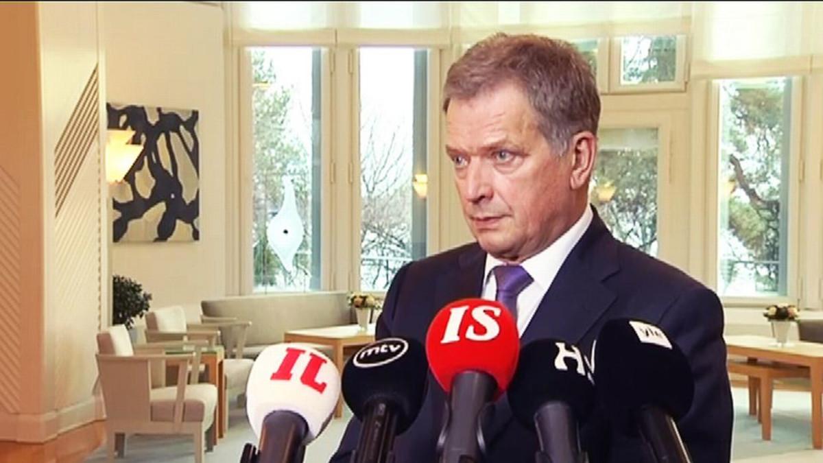 Presidentti Sauli Niinistön tiedotustilaisuus 17. marraskuuta.