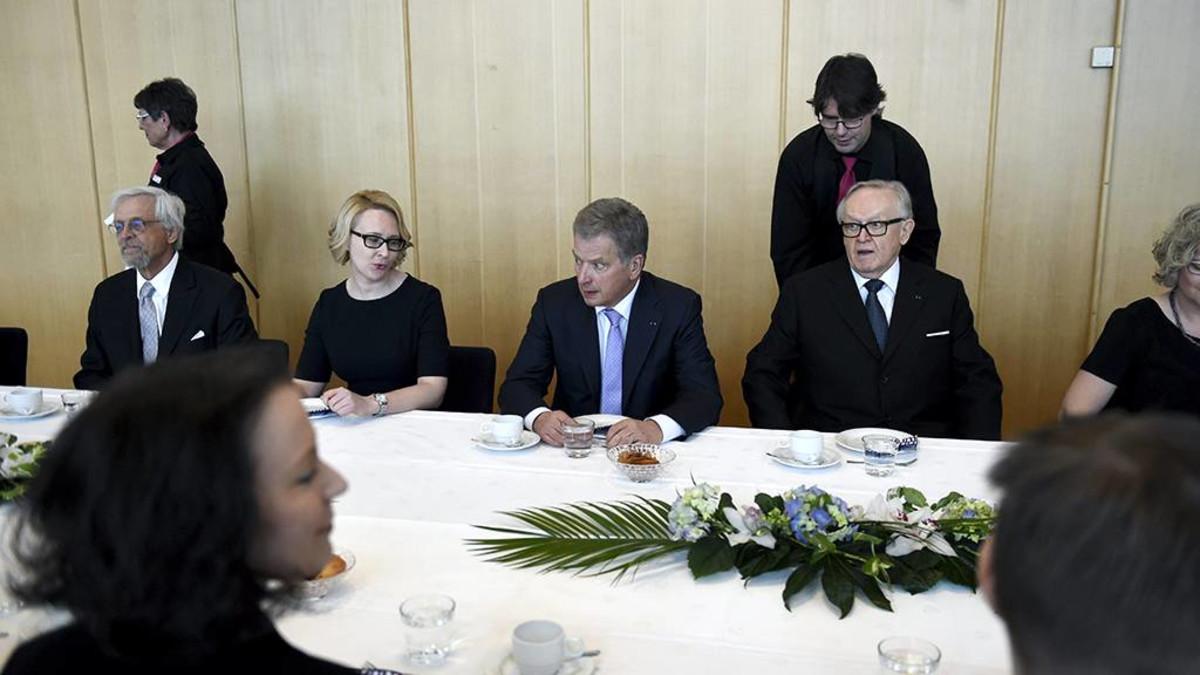Presidentti Sauli Niinistö valtiopäivien avajaisissa.