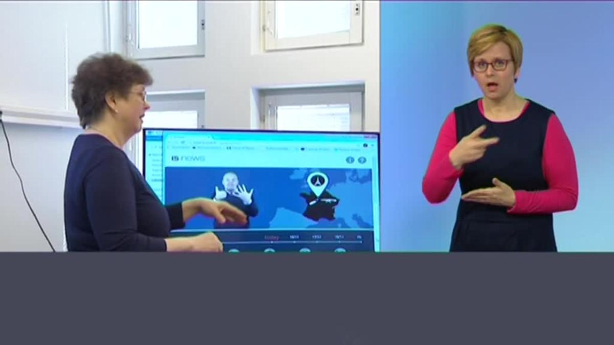 Kuvakaappaus Yle Uutiset Viikko viitottuna -lähetyksestä.