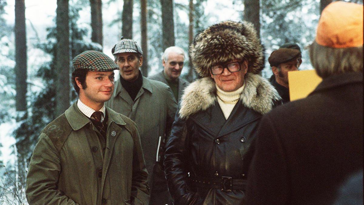 Kaarle Kustaa ja Kekkonen vuonna 1975.