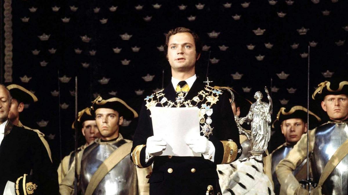 Kuningas Kaarle XVI Kustaa astui valtaan 15.9.1973.