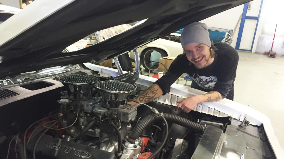 Pontiac ehtii näyttelyesineeksi, ja ajamalla mennään, Toni Rasimus lupaa.