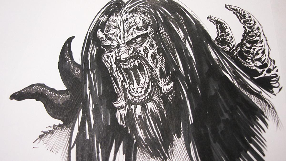 Mr. Lordin piirtämä Lordi-piirros.