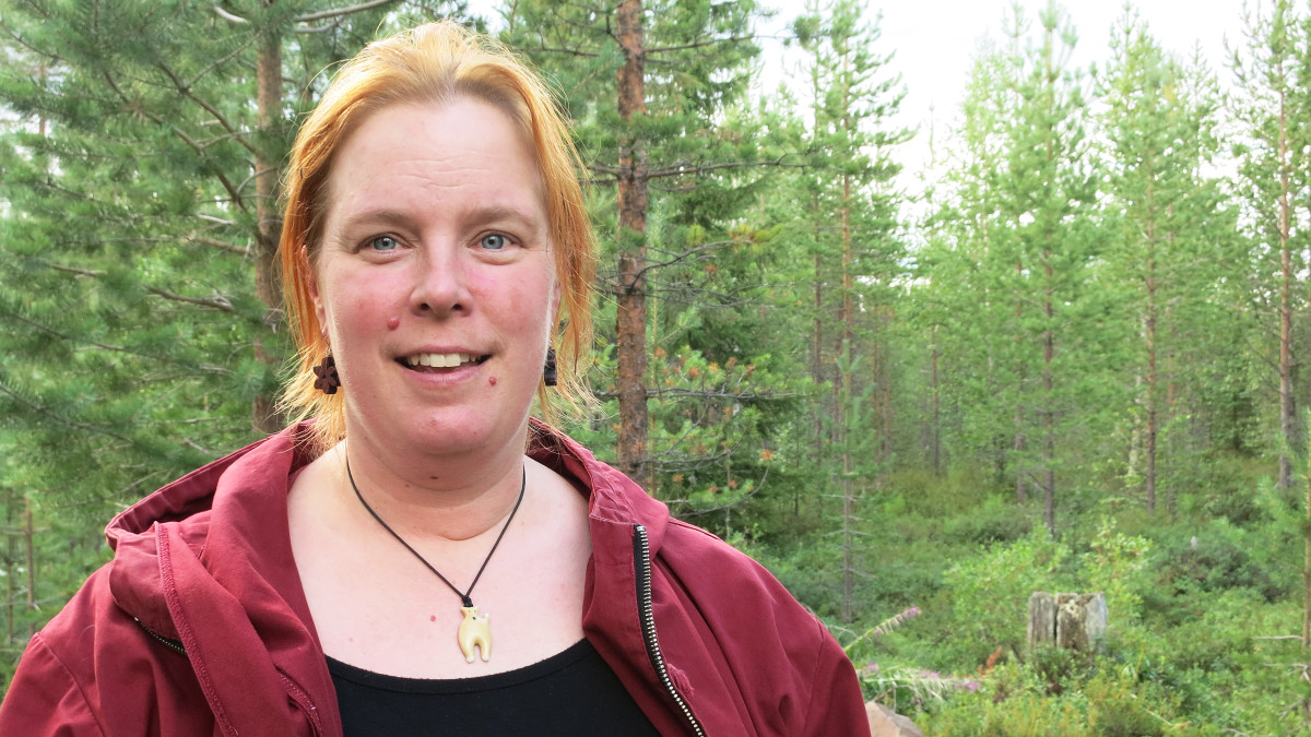 Rovaniemen eläinkeskuksen omistaja Niina Rissanen