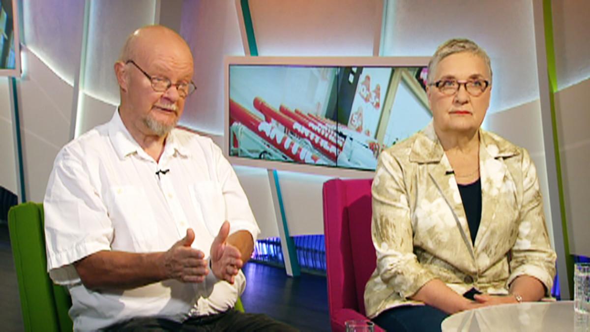 Osmo Soininvaara ja Leena Simonen.