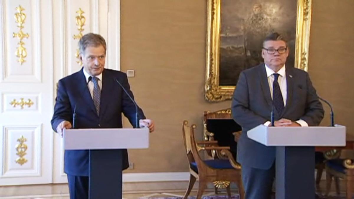 Presidentti Sauli Niinistö ja ulkoministeri Timo Soini.