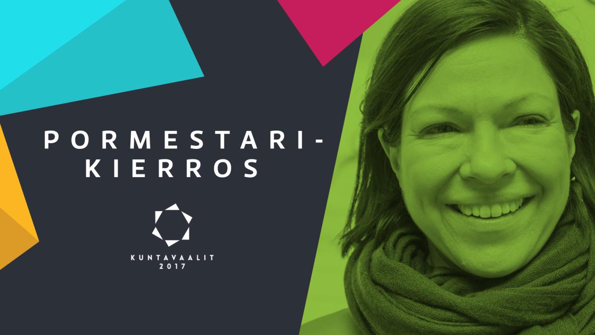 Vihreiden pormestariehdokas Anni Sinnemäki.