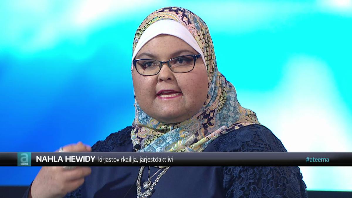 Nahla Hewidy A-teeman lähetyksessä 27.4.2017