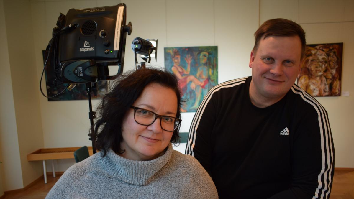 Niina Lyijynen ja Kimmo Hiltunen