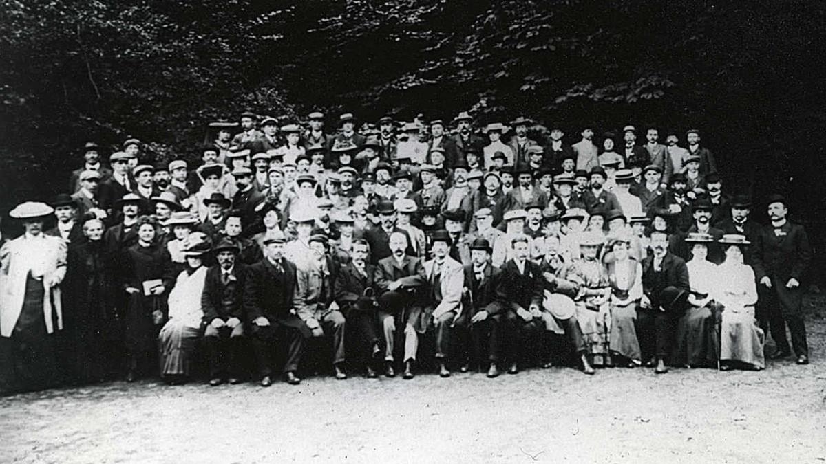 Ryhmäkuva: 1. Pohjoismainen kuuromykkäinkongressi, 1907, Kööpenhamina, Tanska.