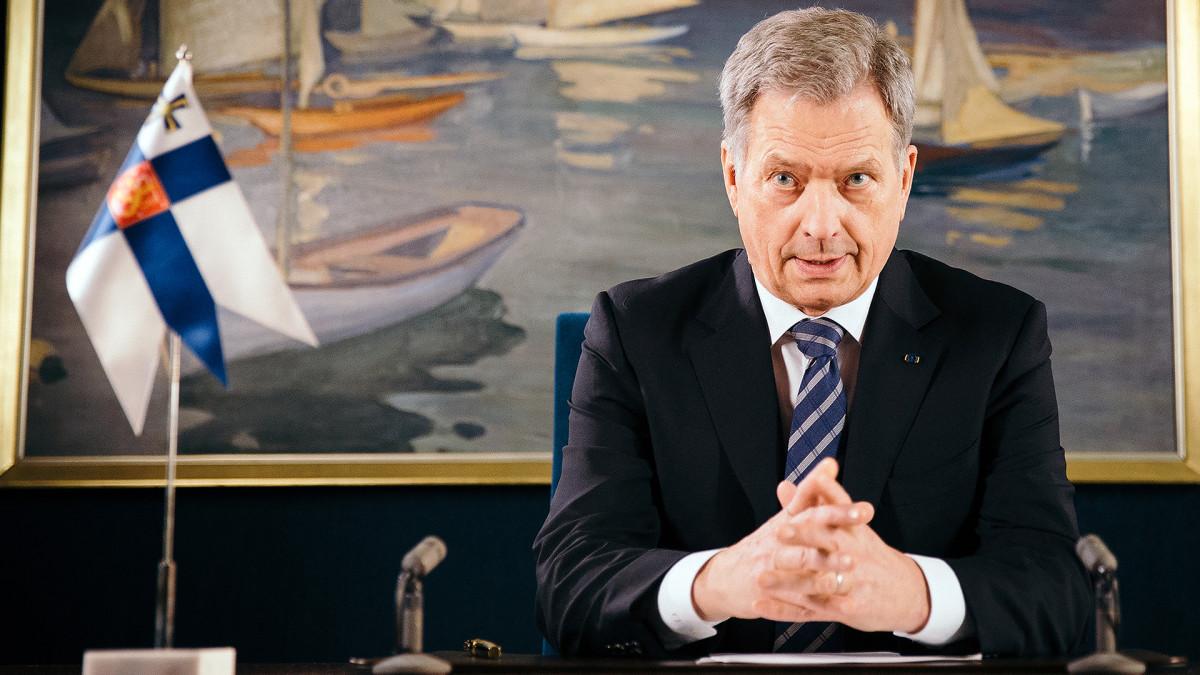 Tasavallan presidentti Sauli Niinistö pitää uudenvuodenpuhetta.