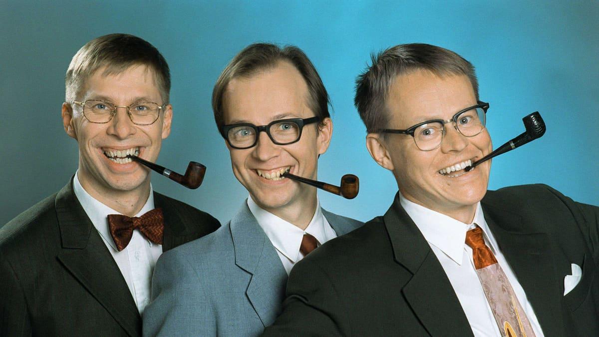 Alivaltiosihteeri-ohjelman Jyrki Liikka, Simo Frangen ja Pasi Heikura 1998