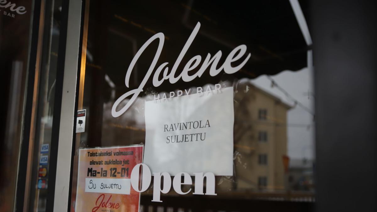 Jolene-baari suljettu Kouvolassa