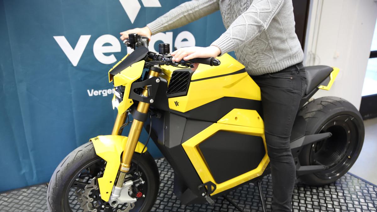 Verge TS sähkömoottoripyörän viimeisin prototyyppi.