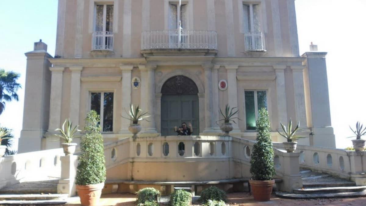 Au pair-mummon työpaikka Suomen Rooma instituutti Villa Lante on aito renessanssihuvila.