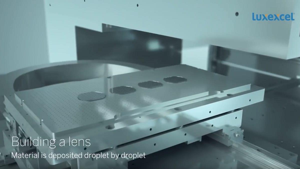 3d printtaus, Luxexcellin animaatiosta kuvakaappaus