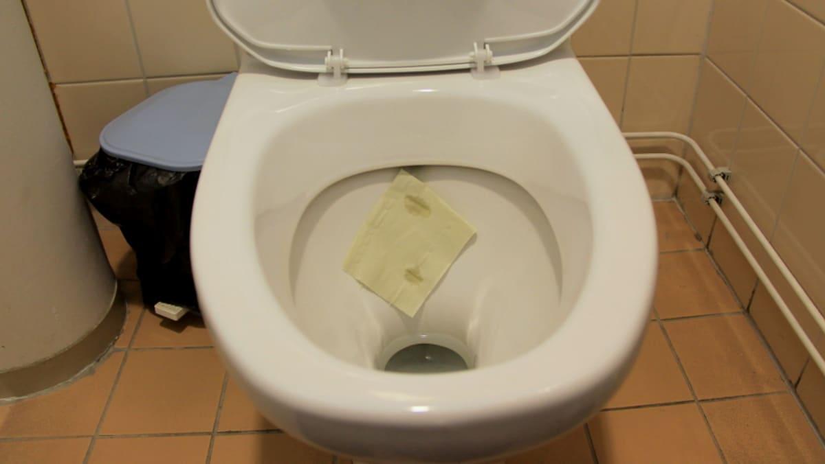 Märkä vessapaperinpala paljastaa vuotaako vessanpönttö