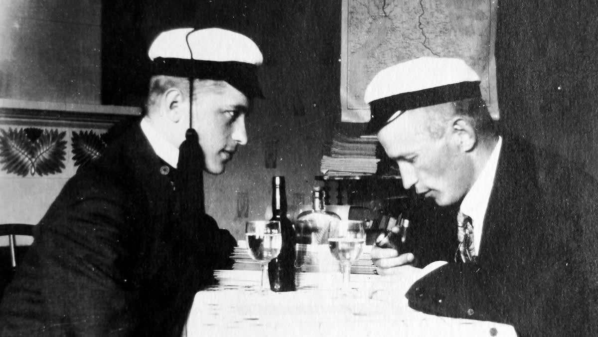 Jalmari Lankinen vasemmalla