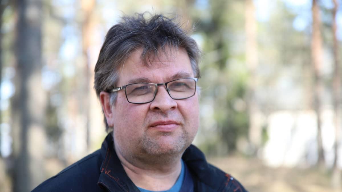 Kuivannon kylän aktiivi Marko Taavila Orimattilasta