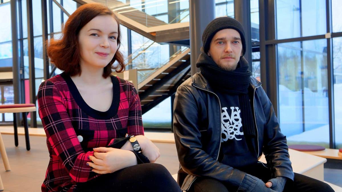 Katriina Ruotsalainen ja Einari Toiviainen.
