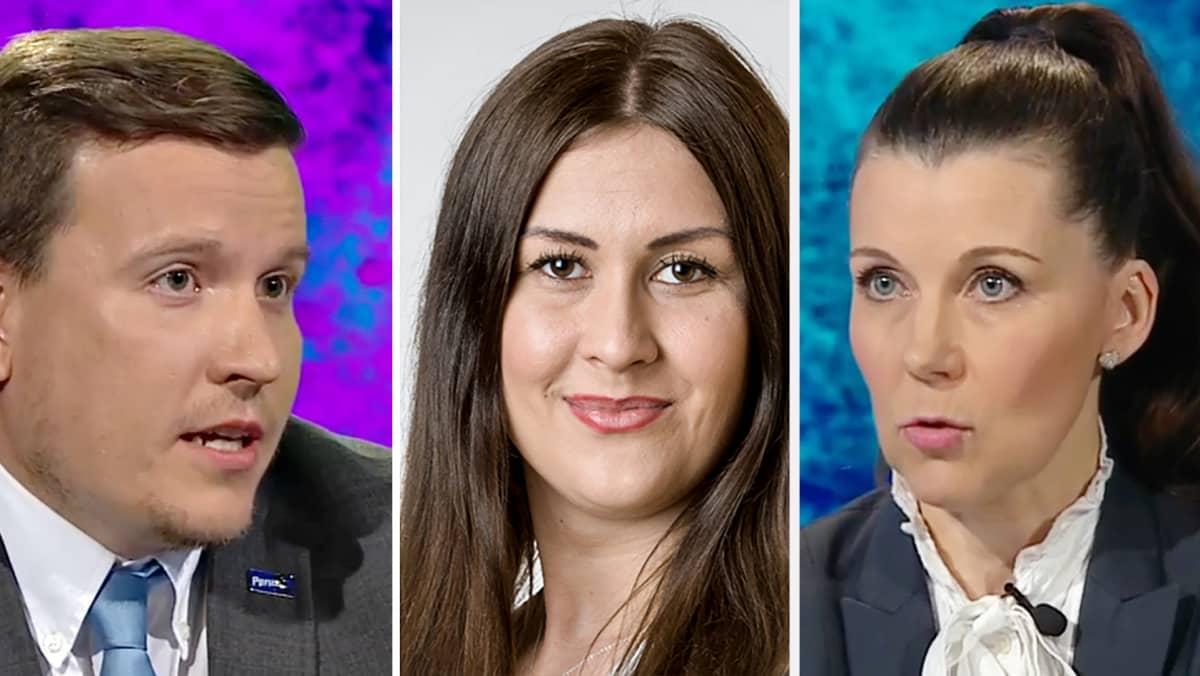 Ville Tavio, Tiina Elovaara ja Arja Juvonen