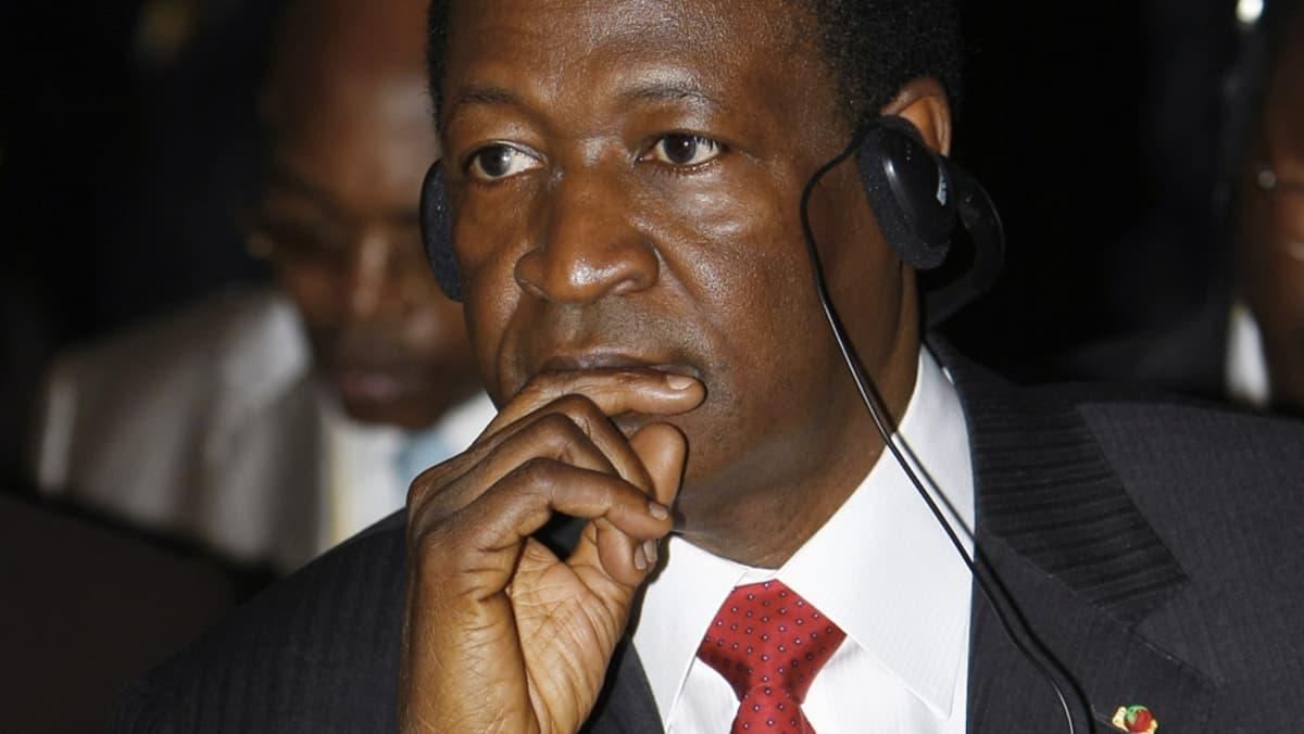 Burkina Fason presidentti Blaise Compaore.