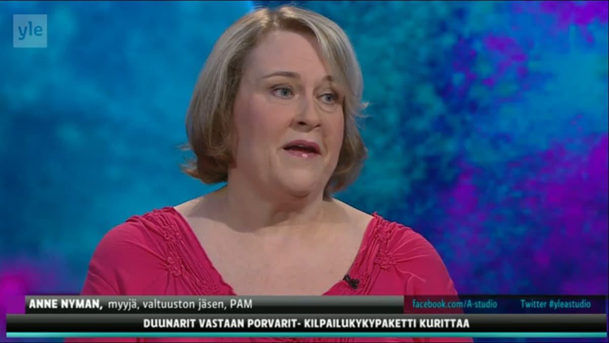 Anne Nyman Ylen A-studio-ohjelmassa