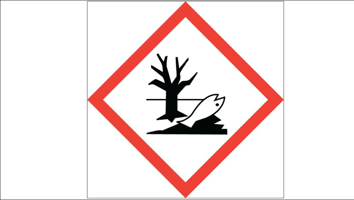 Vaarallinen ympäristölle -merkki