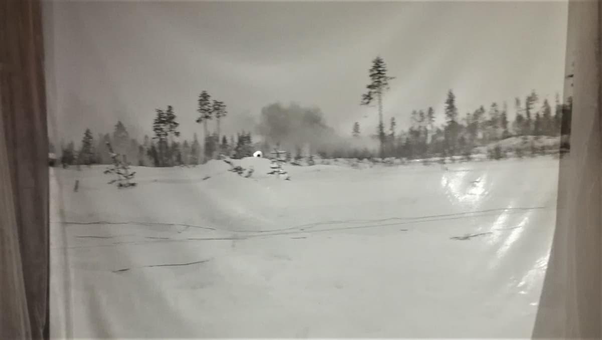 Simo Häyhä -ampumasimulaattorin kuva Kollaalta.