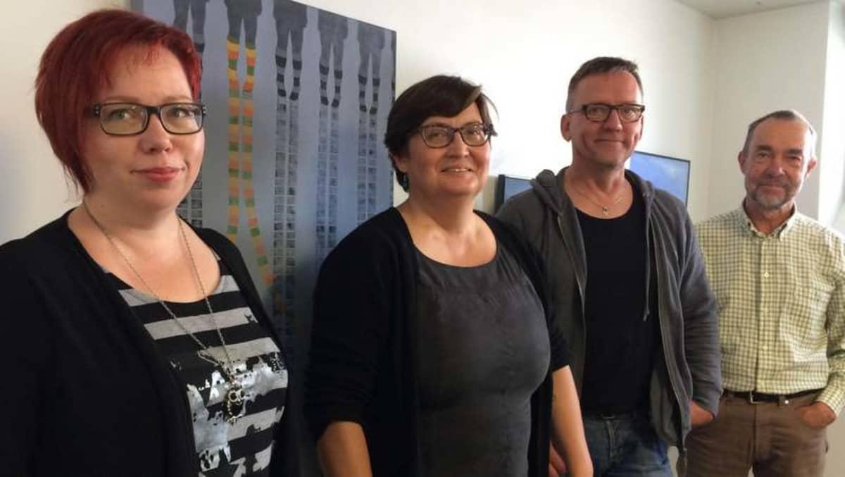 Perhetalon taiteilijoiksi on valittu Pirita Lautala, Kirsimaria Törönen-Ripatti, Tuomo Kukkonen ja Matti Kurkela.