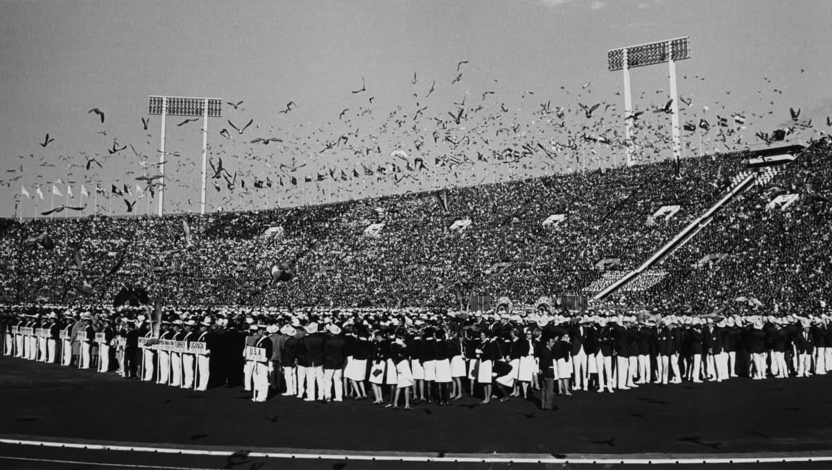 Tokion olympiastadion vuonna 1964.