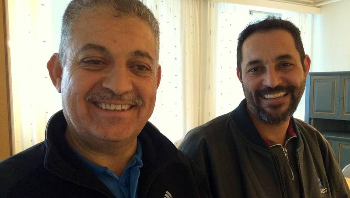 Irakilaiset Yaseen Hasan Harfash (oik.) ja Saif Uldin Jomaah.