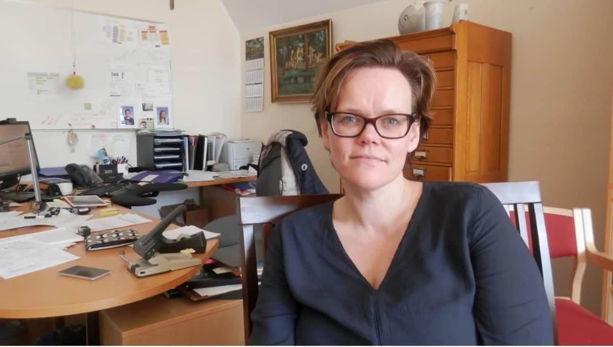 Pietarsaaren johtava lääkäri Pia-Maria Sjöström.