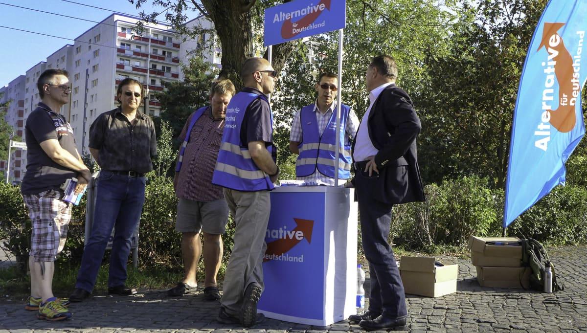 Berliinin Marzahnin lähiössä asuu paljon Venäjältä muuttaneita. Monet heistä kannattavat Vaihtoehto Saksalle-puoluetta.