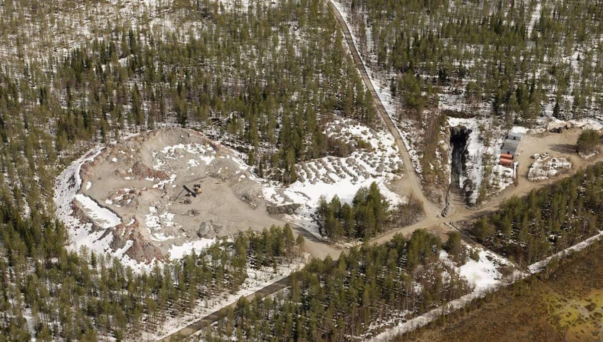 Sotkamo Silverin kaivosalue Sotkamossa.