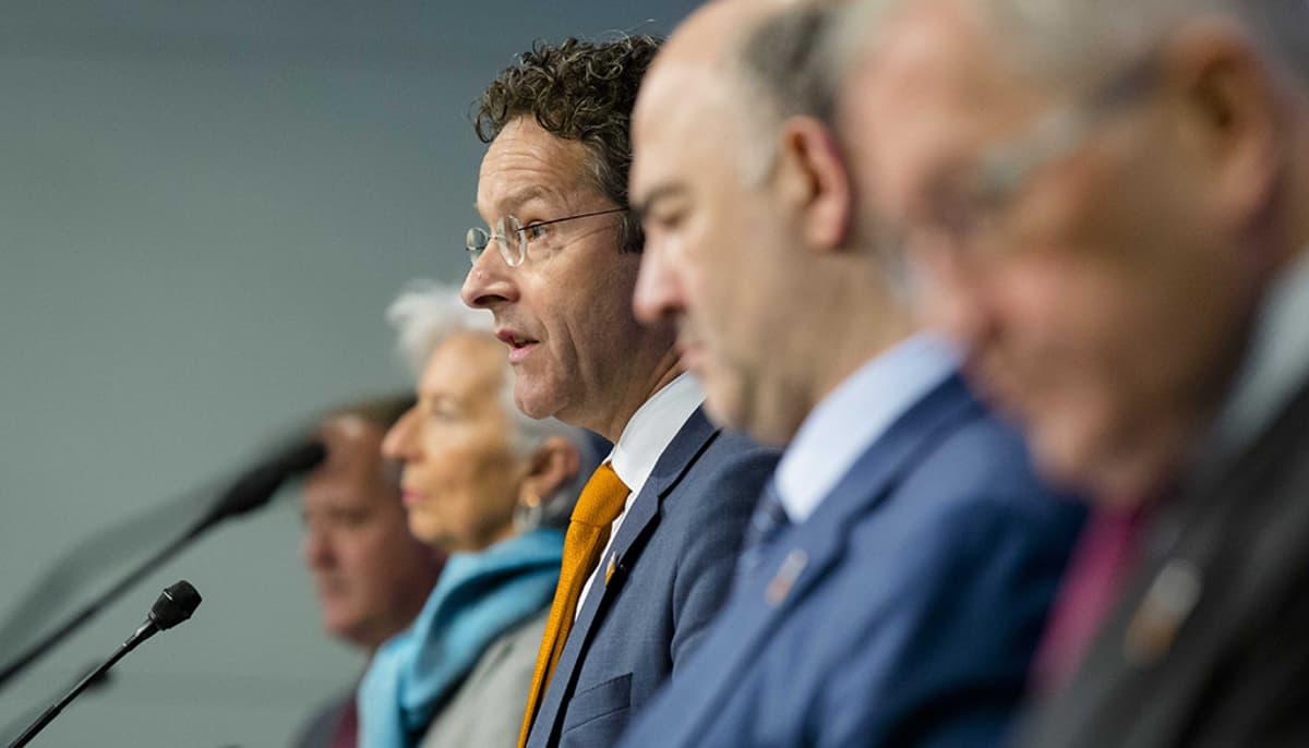 Hollannin valtiovarainministeri Jeroen Dijsselbloem puhuu.