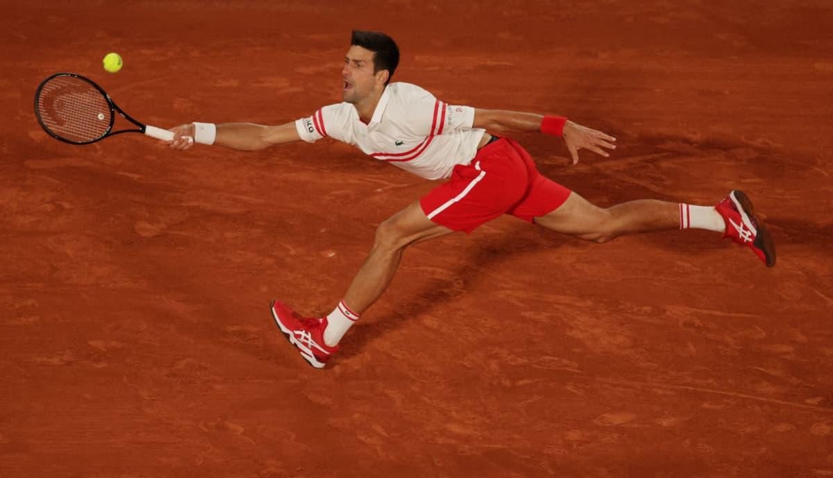 Novak Djokovic Ranskan avointen välierät 12.6.2021