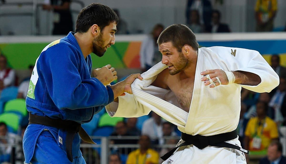 Rion -81 kilon olympiafinaalissa kohtasivat Khasan Khalmurzaev (RUS) ja Travis Stevens