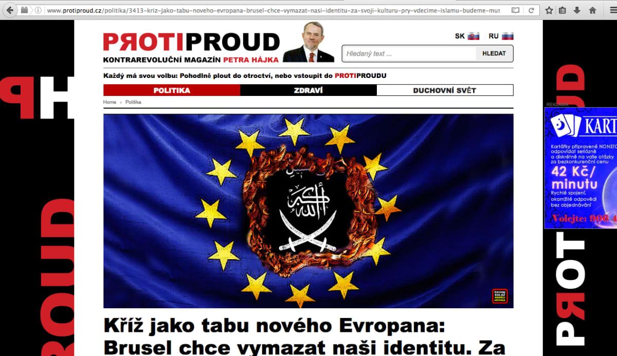Tšekkiläinen Vastavirta-sivusto.