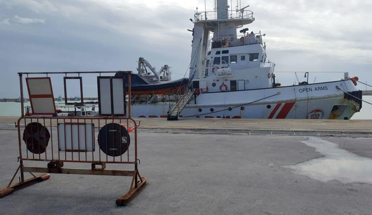 Espanjalaisen avustusjärjestön alus Open arms